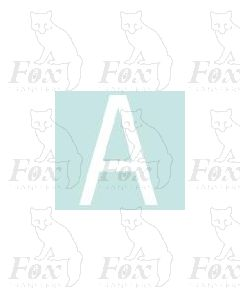 Alpha-Numerics. White 38.8mm high - 1 x letter A