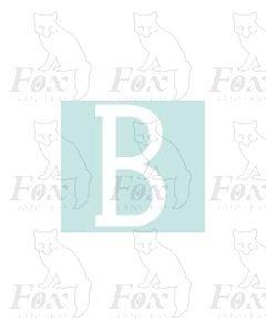 Alpha-Numerics. White 20mm high - 1 x letter B