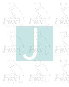 Alpha-Numerics. White 20mm high - 1 x letter J