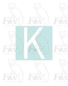 Alpha-Numerics. White 38.8mm high - 1 x letter K
