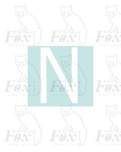 Alpha-Numerics. White 20mm high - 1 x letter N