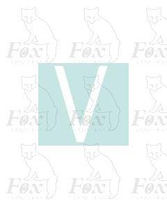 Alpha-Numerics. White 38.8mm high - 1 x letter V