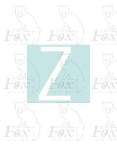 Alpha-Numerics. White 38.8mm high - 1 x letter Z