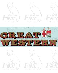 1927-1934 : GREAT (twin shield crest) WESTERN Loco Lettering gold/red