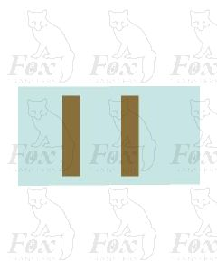(31.5mm high) Gold -1 pair number 1