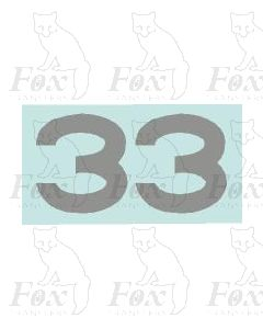 (31.5mm high) Silver - 1 pair number 3