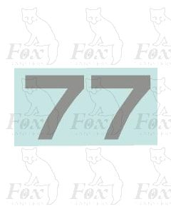 (16mm high) Silver - 1 pair number 7