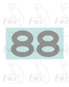 (16mm high) Silver - 1 pair number  8