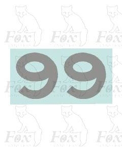 (16mm high) Silver - 1 pair number 9