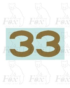 (31.5mm high) Gold -1 pair number 3