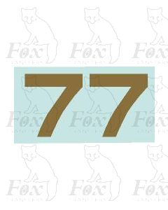 (31.5mm high) Gold -1 pair number 7