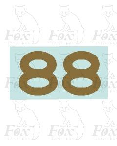 (11mm high) Gold -1 pair number 8