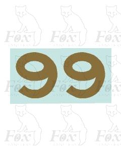 (31.5mm high) Gold -1 pair number 9