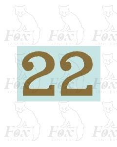 (32mm high) Gold - 1 pair number 2