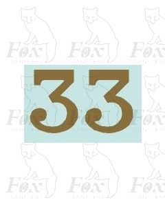 (32mm high) Gold - 1 pair number 3