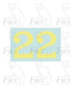 (20mm high) Off white (straw) - 1 pair number 2
