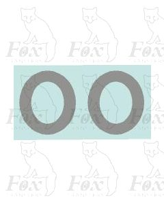 (11mm high) Silver - 1 pair number 0