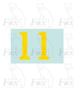 (38mm high) Yellow - 1 pair number 1