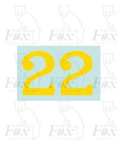 (22.25mm high) Yellow - 1 pair number 2