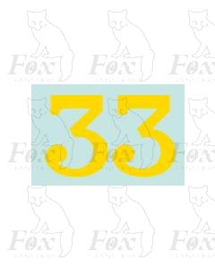 (38mm high) Yellow - 1 pair number 3