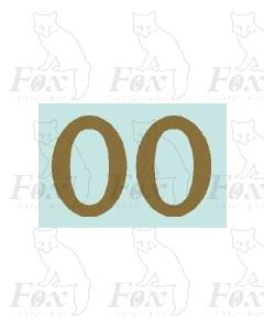 (32mm high) Gold - 1 pair number 0