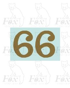 (32mm high) Gold - 1 pair number 6
