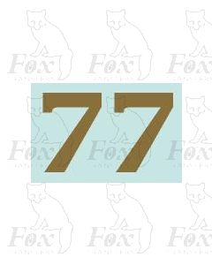 (32mm high) Gold - 1 pair number 7