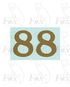 (32mm high) Gold - 1 pair number 8