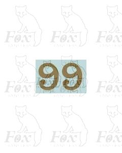 (11.25mm high) Gold - 1 pair number 9