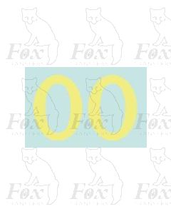 (38mm high) Off white (straw) - 1 pair number 0