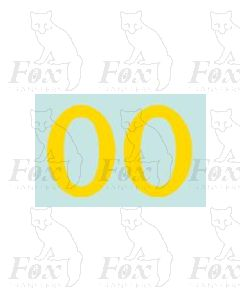 (38mm high) Yellow - 1 pair number 0
