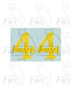 (11.25mm high) Yellow - 1 pair number 4
