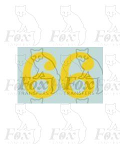 (11.25mm high) Yellow - 1 pair number 6