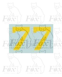 (16.5mm high) Yellow - 1 pair number 7