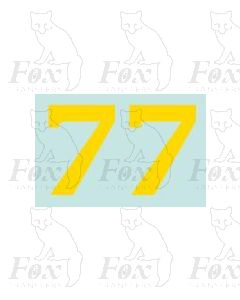 (38mm high) Yellow - 1 pair number 7