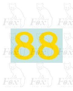 (38mm high) Yellow - 1 pair number 8