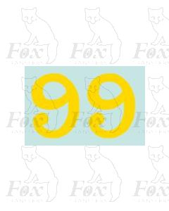 (38mm high) Yellow - 1 pair number 9