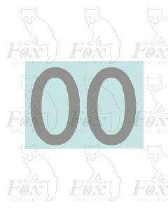 (27mm high) Silver - 1 pair number 0