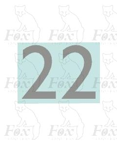 (27mm high) Silver - 1 pair number 2
