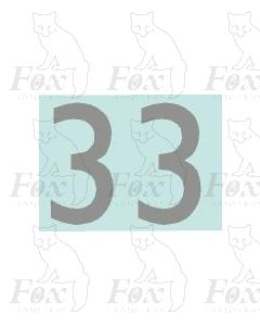 (20mm high) Silver - 1 pair number 3