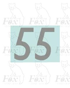 (27mm high) Silver - 1 pair number 5