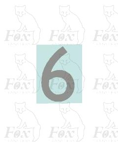 (27mm high) Silver - 1 x number 6