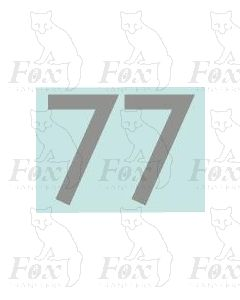 (20mm high) Silver - 1 pair number 7
