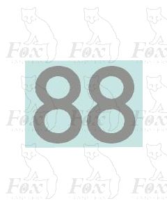 (20mm high) Silver - 1 pair number 8