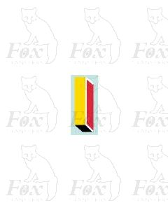 (7.75mm high) Yellow/red/black/white - 1 x number 1
