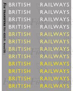Original LNER style British Railways Lettering