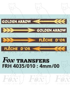 GOLDEN ARROW and FLECHE D'OR