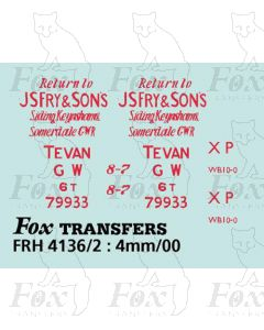 GWR J S Fry & Sons