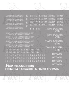 LNER/BR HYTWIN - TWIN BOLSTER TB