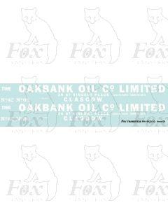 Oakbank Oil Co bogie tanker graphics